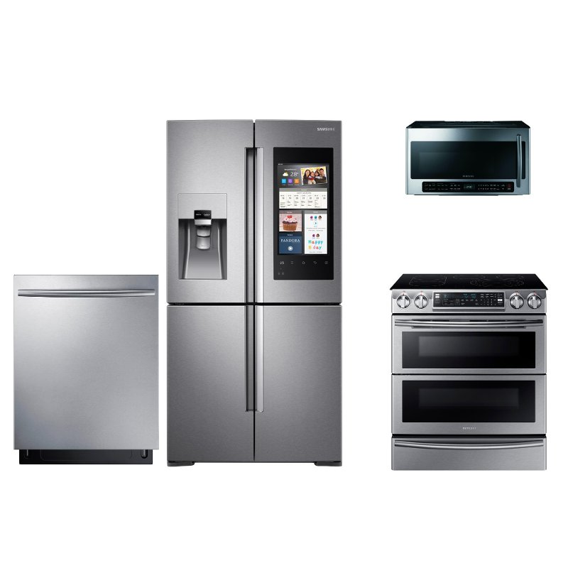 Samsung 4 Piece Stainless Steel Kitchen Appliance Package