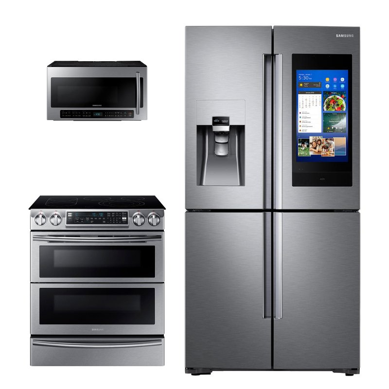 Samsung 3 Piece Kitchen Appliance Package with Electric Range  Stainless Steel  RC Willey