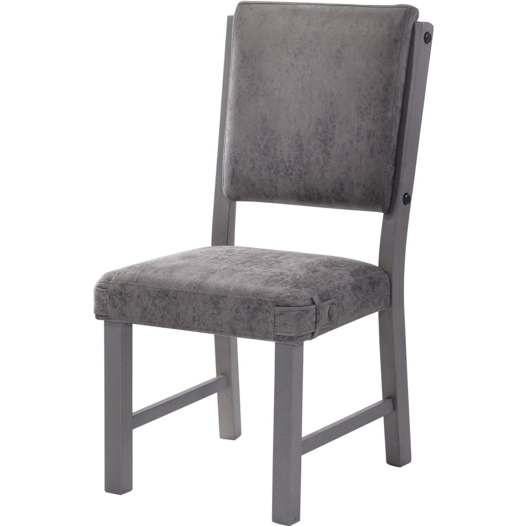 gray upholstered dining chairs flip chair bed ikea factory rc willey furniture store
