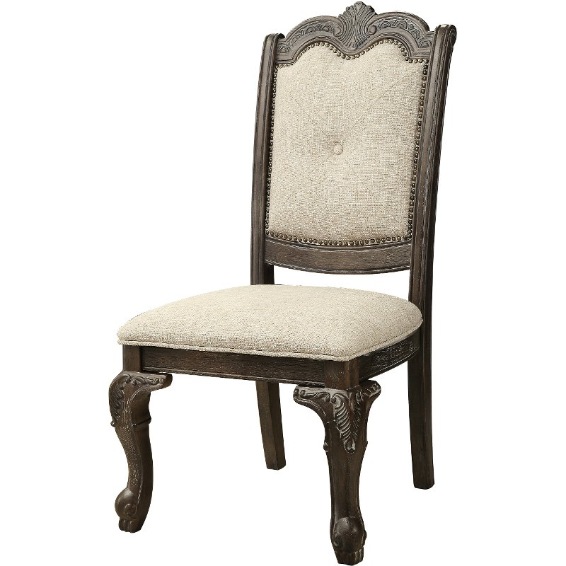 gray upholstered dining chairs motor for sale washed and beige chair kiera collection rc willey furniture store