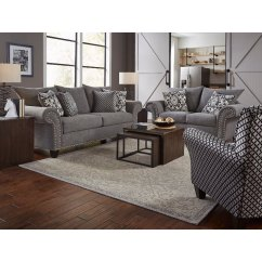 2 Piece Living Room Set English Furniture Casual Traditional Gray Paradigm Rc Willey Store