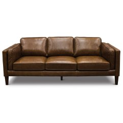 Modern Brown Leather Sofa Macys Reviews Classic Cocoa Brompton Rc Willey Furniture Store