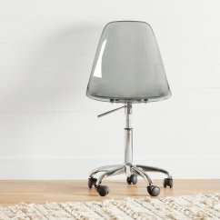 Chair With Wheels Swing Ace Hardware Clear Smoked Gray Acrylic Office Annexe Rc Willey Furniture Store