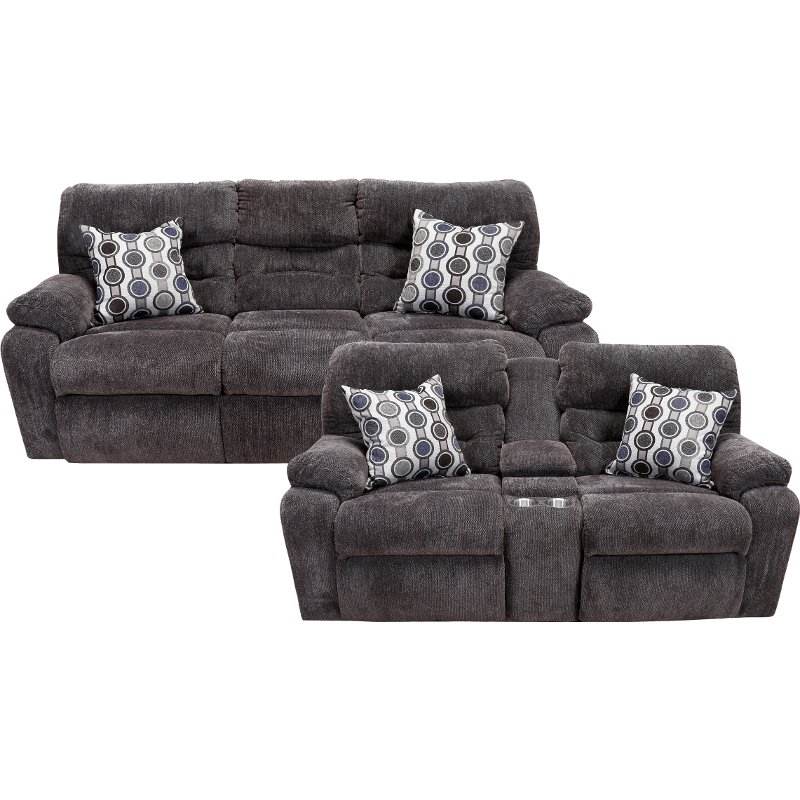 living room reclining sofas modern sectional chocolate brown power set tribute rc willey furniture store