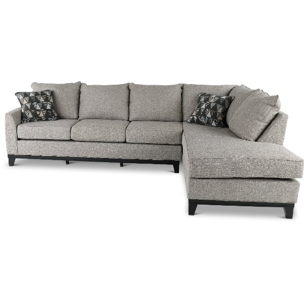 jive chenille living room furniture collection decorating modern style shop sectional sofas and leather sectionals rc willey store slate gray 2 piece sofa with raf chaise emerson