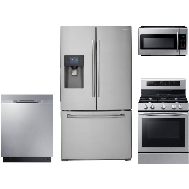 Samsung 4 Piece Kitchen Appliance Package with Gas Range  Stainless Steel  RC Willey Furniture