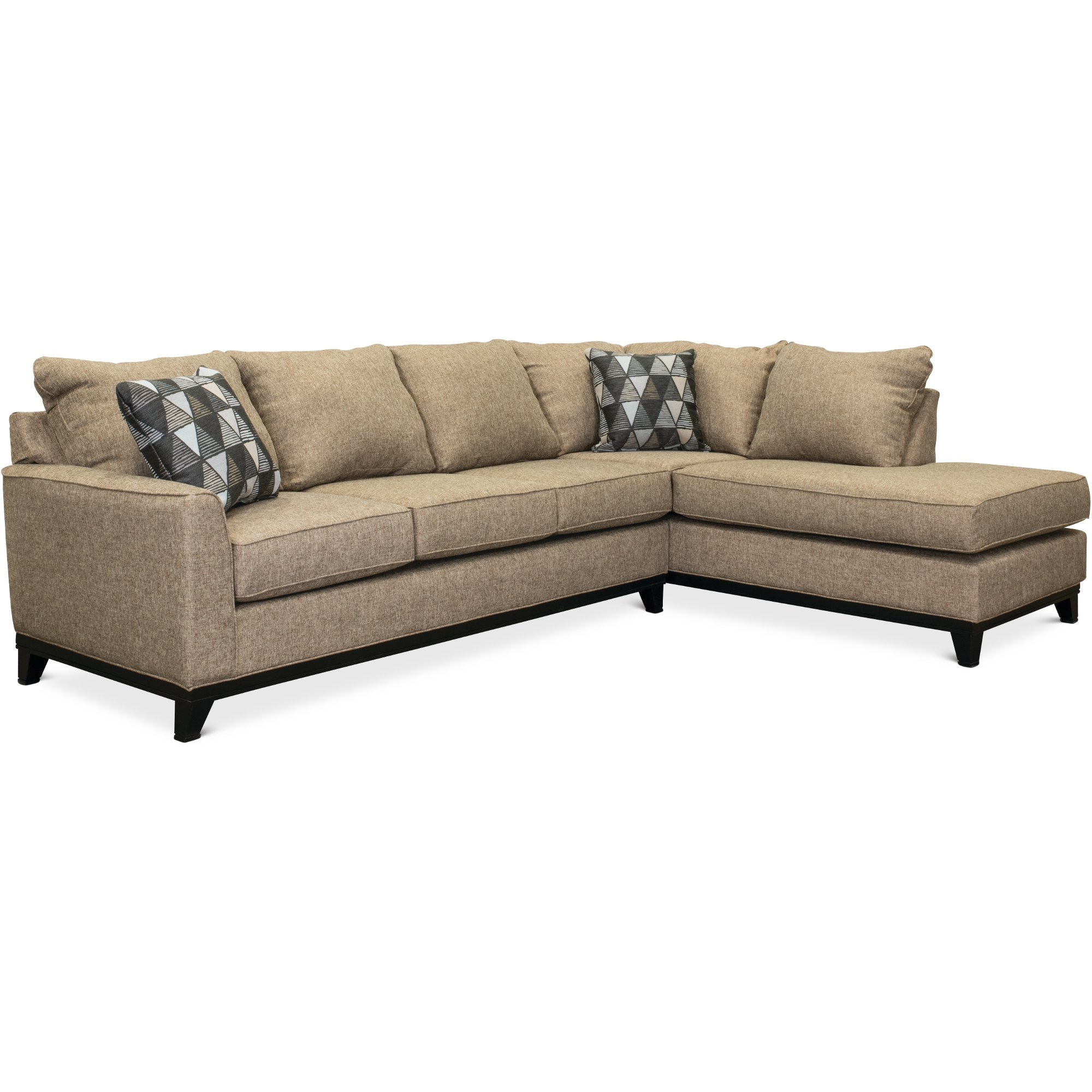 klaussner loomis sectional sofa benchcraft furniture leather 2 piece cheap baci living room