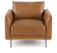 Mid-Century Modern Camel Brown Leather Chair - Marseille ...