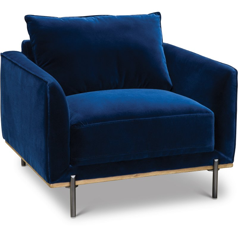 royal blue chairs pedicure chair manufacturers modern velvet marseille rc willey furniture store
