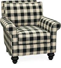 Black and White Buffalo Plaid Accent Chair - Blake | RC ...