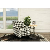 black and white accent chairs with arms wheel chair cost buffalo plaid blake rc willey 2