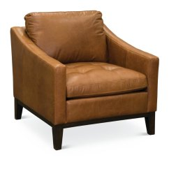 Leather Chair Modern Oversized Folding With Canopy Mid Century Chestnut Brown Monza Rc Willey Furniture Store