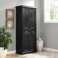 Kitchen Furniture Store Island Designs Distressed Black Pantry Cabinet Seaside Rc Willey