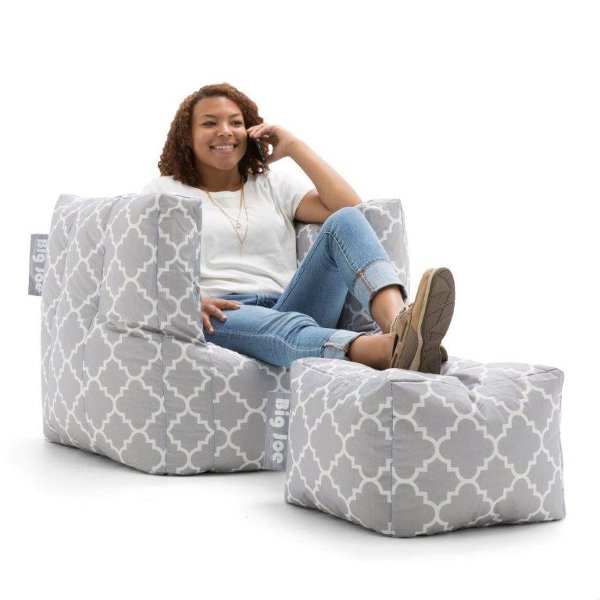 big joe kids chair and table decorate your bedroom with kid furniture at rc willey 0670634 contemporary gray bean bag ottoman cube