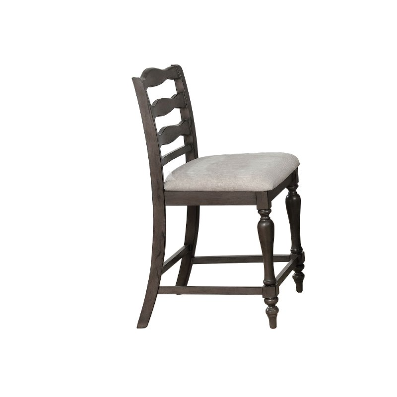 upholstered counter height chairs drive medical shower chair birch gray stool theresa rc willey furniture store