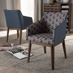 Blue Accent Chairs For Living Room Rush Seat Dining Uk Mid Century Modern Dark Patterned Chair Set Of 2 Reece Rc Willey Furniture Store