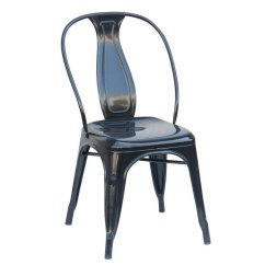 Industrial Dining Chair Best Affordable Office Set Of 4 Black Metal Chairs Reservation Seating Rc Willey Furniture Store