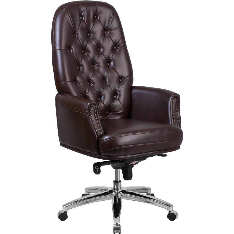 High Back Brown Leather Office Chair  Erico  RC Willey