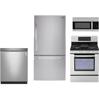 lg kitchen appliance packages high table rc willey furniture store 33wbtm s gas 4 piece package with