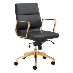 Office Chair Gold Carolina Company Sleek And Sassy Black Scientist Rc Willey Furniture Store