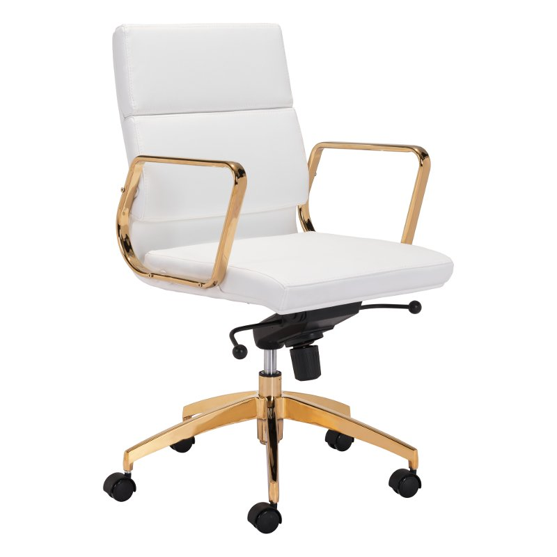office chair gold purple recliner chairs sleek and sassy white scientist rc willey furniture store