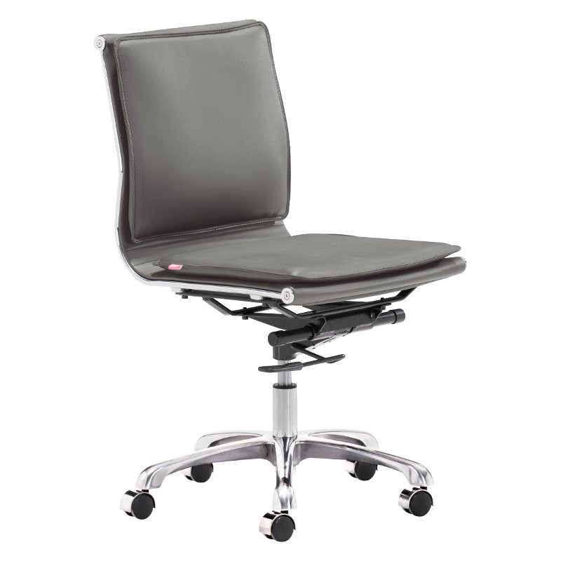 simple desk chair light weight wheel chairs padded gray office lider plus rc willey furniture store