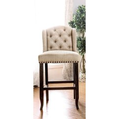 Upholstered Counter Height Chairs Swivel Chair Made In Usa Beige Wingback Stool Antique Rc Willey Furniture Store