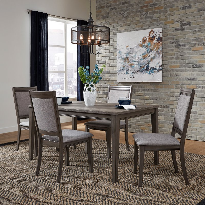 upholstered chairs for dining room accent living chair gray urban modern 5 piece set with tanners creek rc willey furniture store