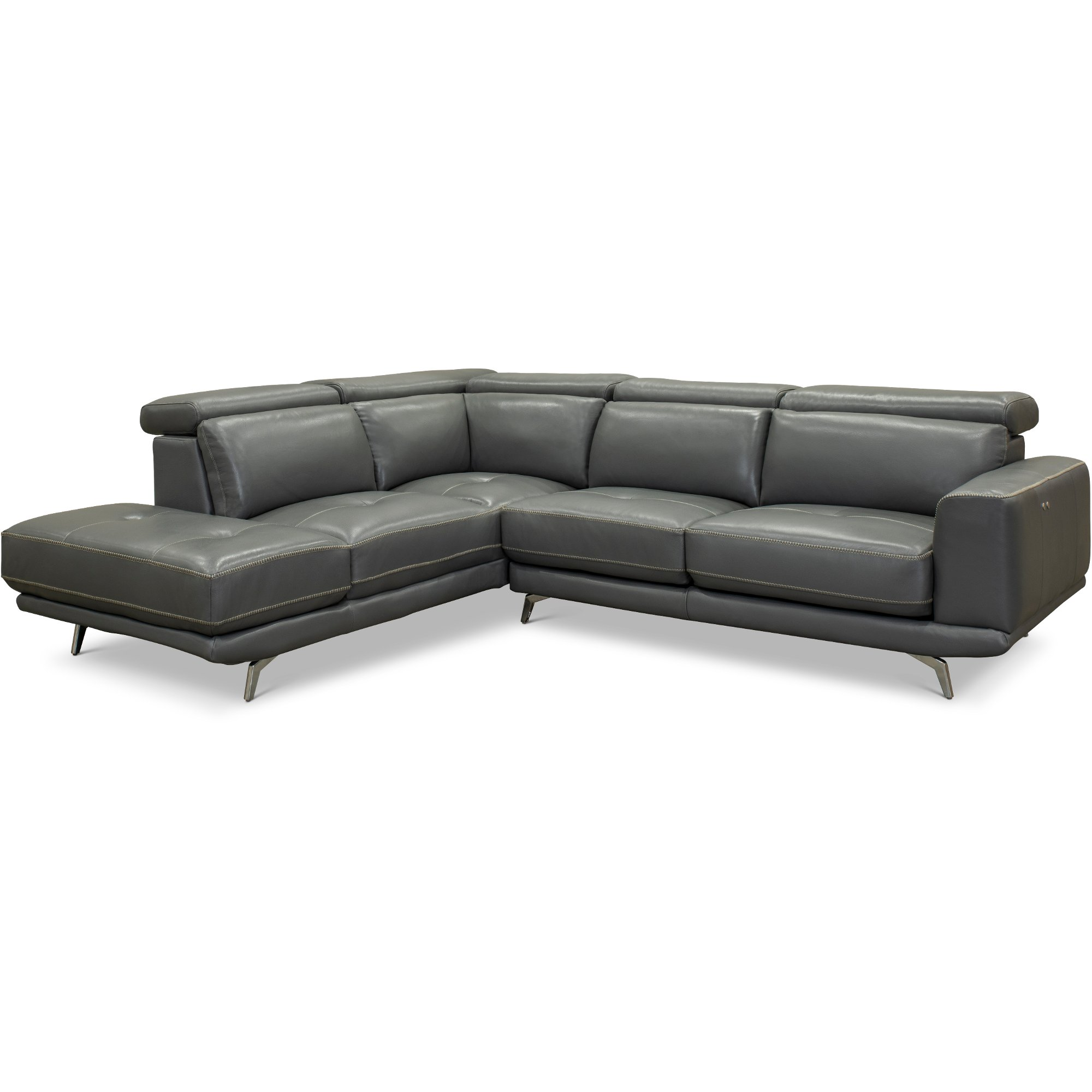 dark gray leather living room furniture paint colours match power reclining sectional sofa with left chaise baron rc willey store