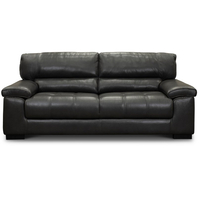 sienna sofa flexsteel sofas and loveseats contemporary dark gray leather rc willey furniture store