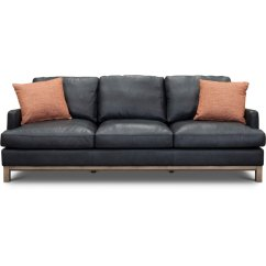 Sofas Dark Blue Couch Or Sofa Mid Century Modern Leather Westport Rc Willey Furniture Store