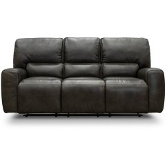 Triple Reclining Sofa Princess Ajpw Charcoal Gray Leather Match Power Madrid Rc Willey Furniture Store