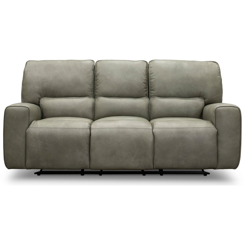 triple reclining sofa most comfortable queen size sleeper gray leather match power madrid rc willey furniture store