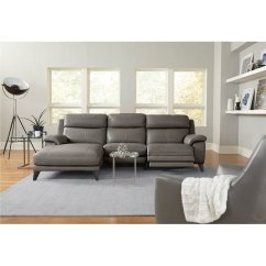 Living Room Reclining Sofas Who Makes The Best Furniture Elephant Gray Leather Match Power Sofa With Left Arm Facing Chaise Venice Rc Willey Store