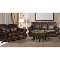 Bedroom And Living Room Sets Decorative Wall Tiles For Furniture Store Couches Dining Tables More Traditional Brown Leather 2 Piece Set Molasses