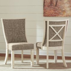 White Upholstered Chairs Swivel Chair Meaning Set Of 2 Antique Dining Bolanburg Rc Willey Furniture Store