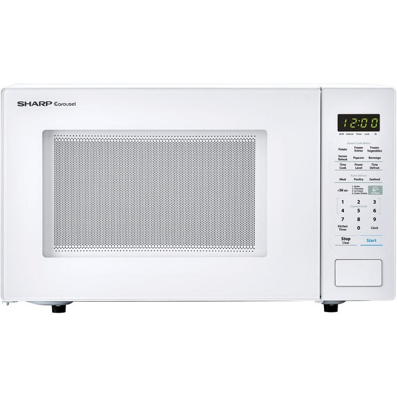 sharp countertop microwave 1 4 cu ft white rc willey furniture store