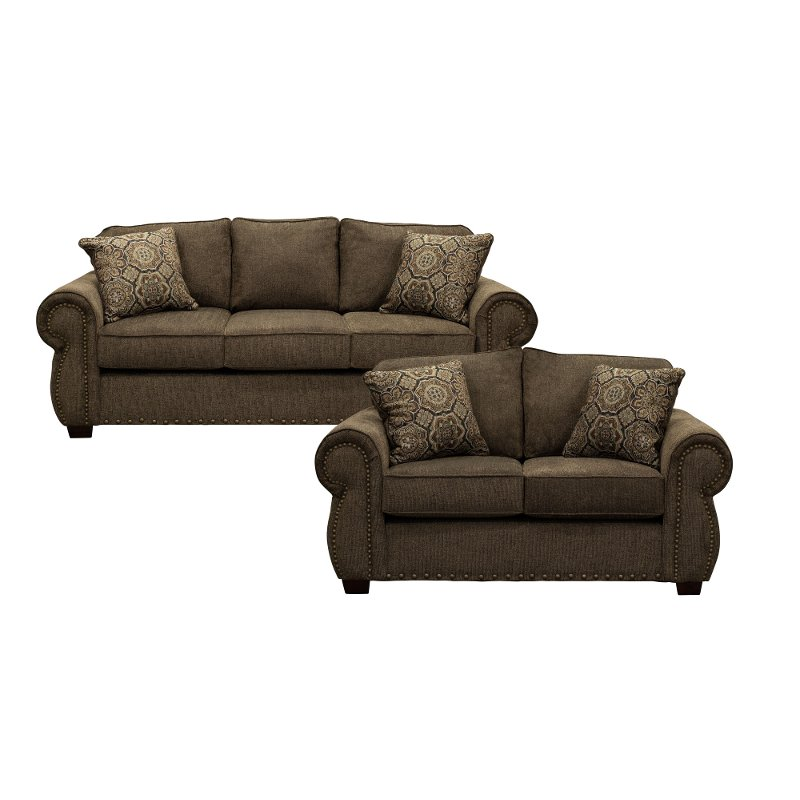 sofa bed living room sets rent a center furniture coffee brown 2 piece set with southport rc willey store