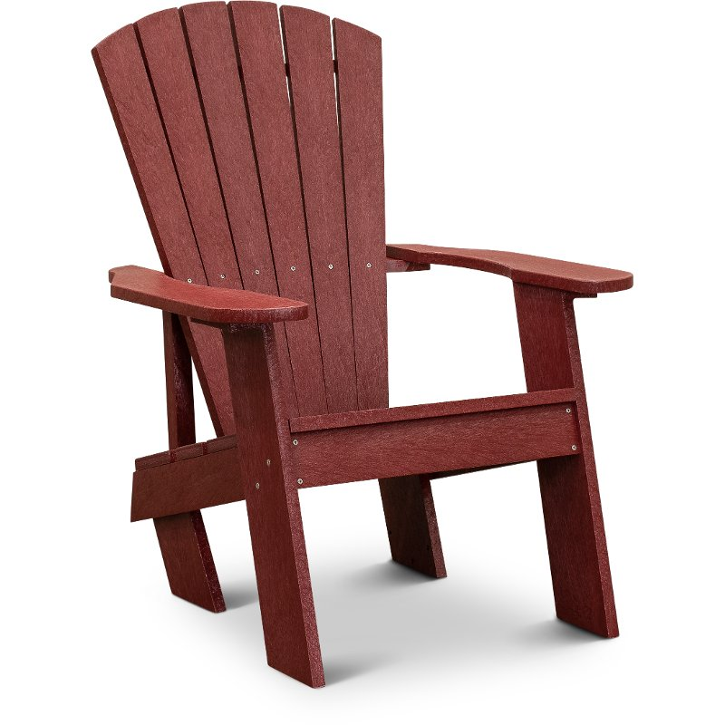 red adirondack chairs chair bordeaux outdoor patio captiva rc willey furniture store