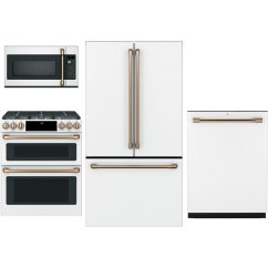Kitchen Appliance Store Top Rated Cabinets Cafe 4 Piece Package With Gas Range White Rc Willey Furniture