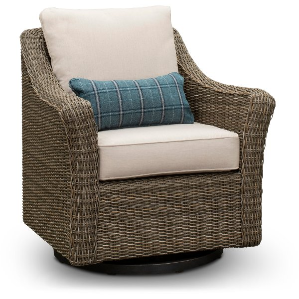 wicker swivel patio chair best concert lawn chairs search results for agio furniture store couches bedroom sets woven oak grove