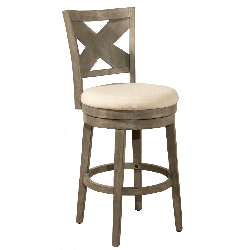 upholstered counter height chairs folding at lowes weathered gray 26 inch stool sunhill rc willey furniture store