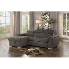 Storage Sectional Sofa Bed White Rattan Taupe With Pullout And Left Side Chaise Ferriday Rc Willey Furniture Store