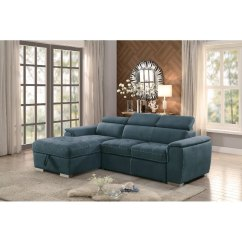 Storage Sectional Sofa Bed Softline Price Blue With Pullout And Left Side Chaise Ferriday Rc Willey Furniture Store