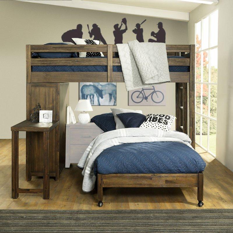 16395 Twin Loft Bed Metal Bunk Ladder Beds Bedroom Dorm