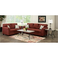 7 Piece Living Room Package Modern Red Ideas Contemporary Ruby Set Wall St Rc Willey Furniture Store
