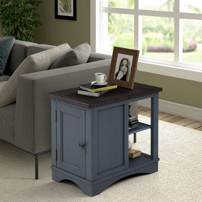 rustic cotton side table rc willey