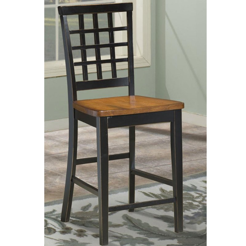 counter height chairs with back swivel office chair without wheels black and java brown lattice stool arlington rc willey furniture store