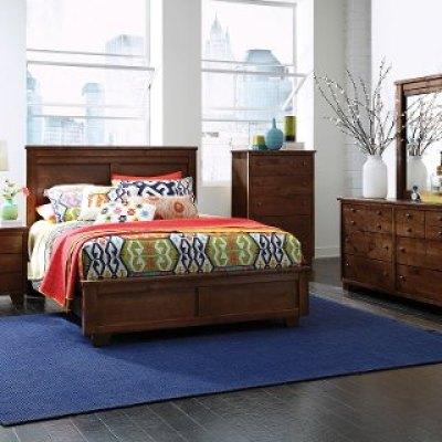 Espresso Brown Contemporary 6 Piece Full Bedroom Set Go