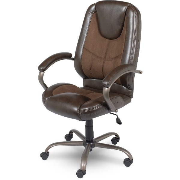 leather chair office slipcovers for dining chairs with arms rc willey has comfortable stylish home brown bentwood